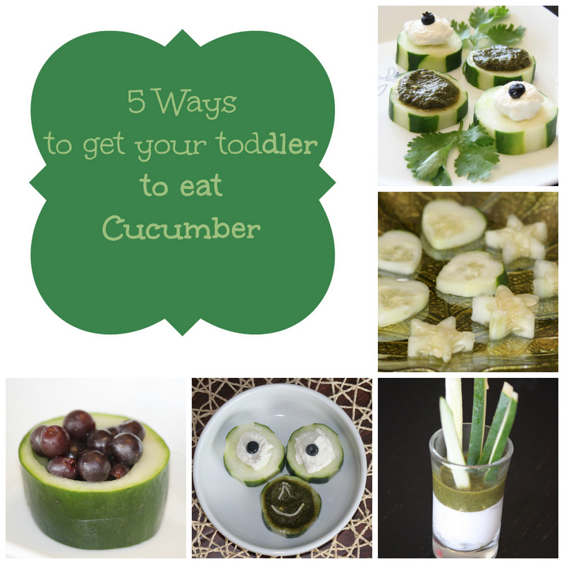 5 ways to get your toddler to eat cucumber