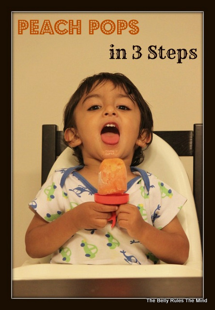 Peach Pops in 3 steps