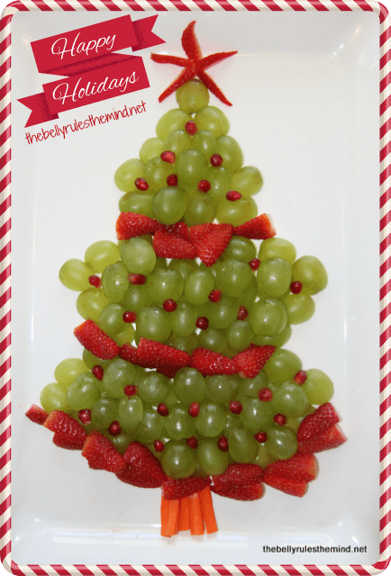 Christmas Tree Fruit Platter.Christmas Fruit Platter The Belly Rules The Mind