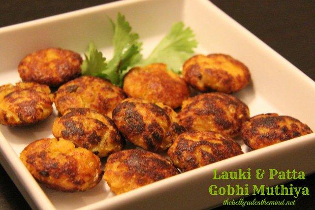 Laukhi & Patta Gobhi Muthiya