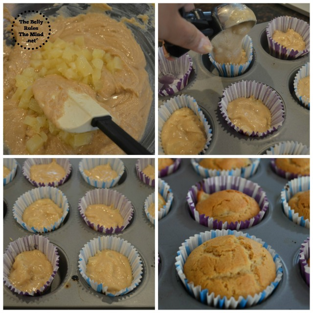 The batter should be smooth. Add pineapple pieces ,give a final stir ...