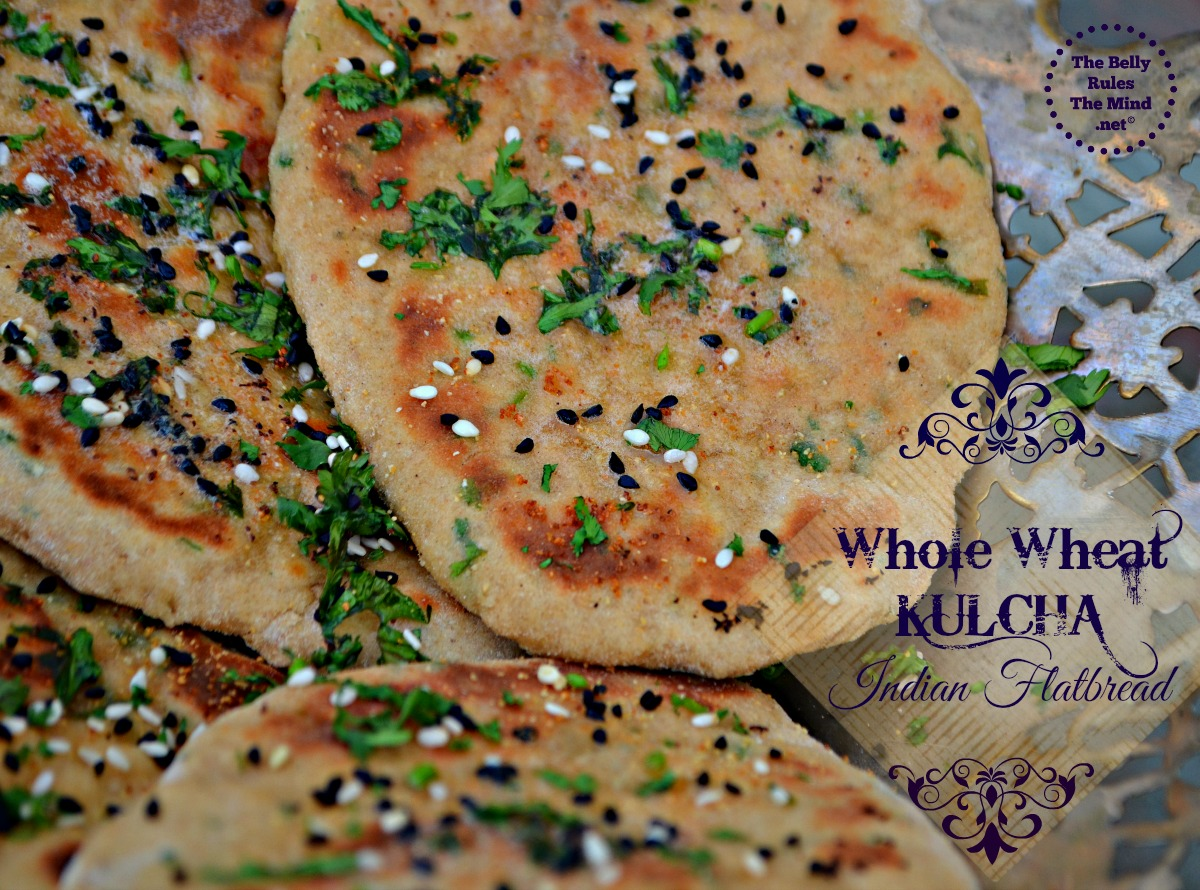 Whole wheat kulcha Indian flatbread