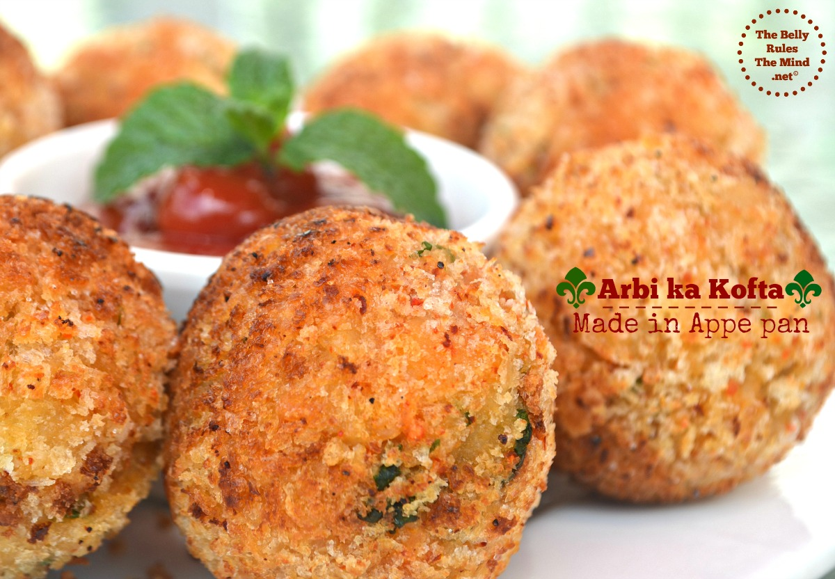 arbi ka kofta made in appe pan