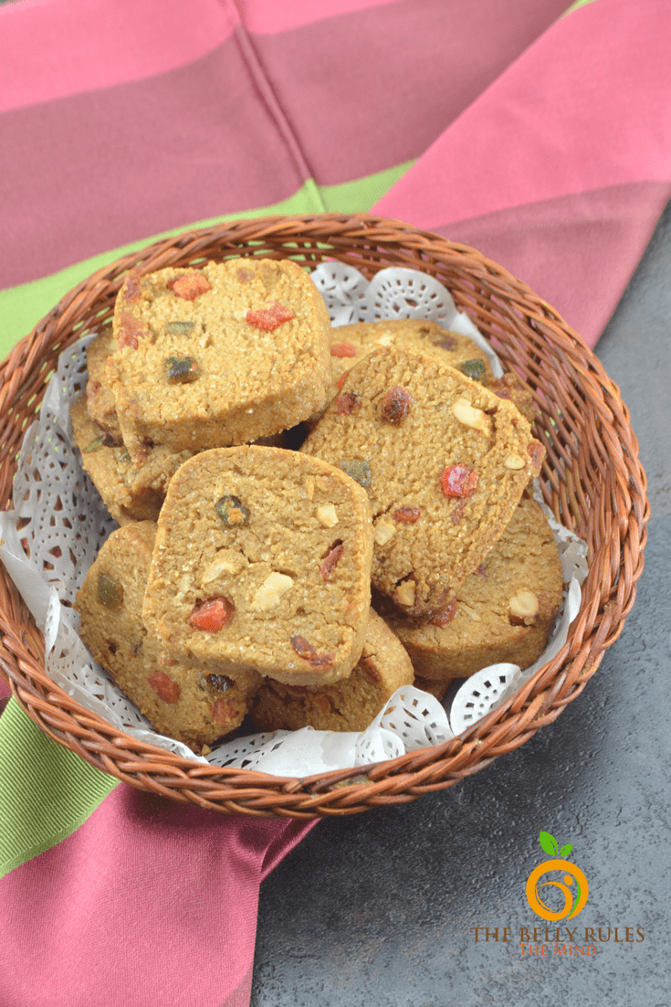 whole wheat Tutti frutti Cookies