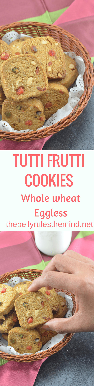 Whole Wheat Tutti frutti Cookies