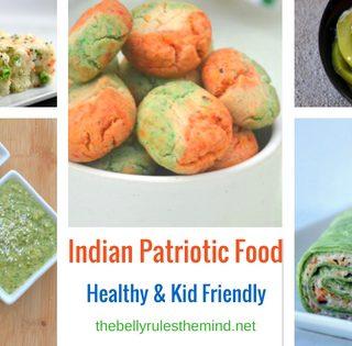 Indian Patriotic Food Flag