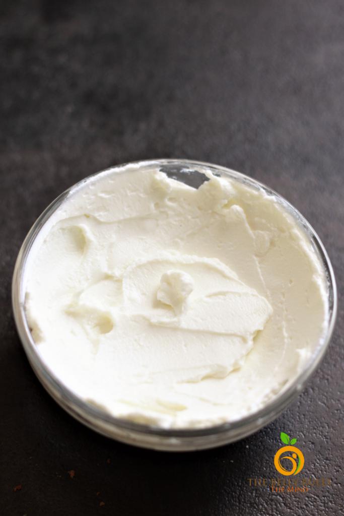 strained yogurt in a bowl