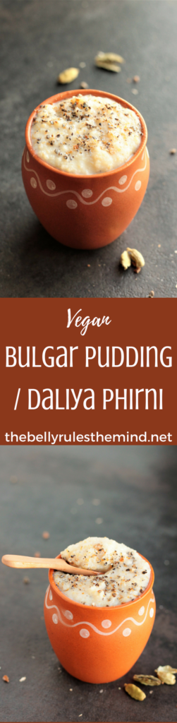 A pudding that is actually good for you. Vegan Bulgar Pudding or Dailya Phirni. Easy, delicious and nourishing. Enjoy it for breakfast or dessert. @bellyrulesdmind #vegan #bulgar #recipe #pudding #breakfast #dessert #indian #phirni #firni #porridge #easy #5ingredientsorless