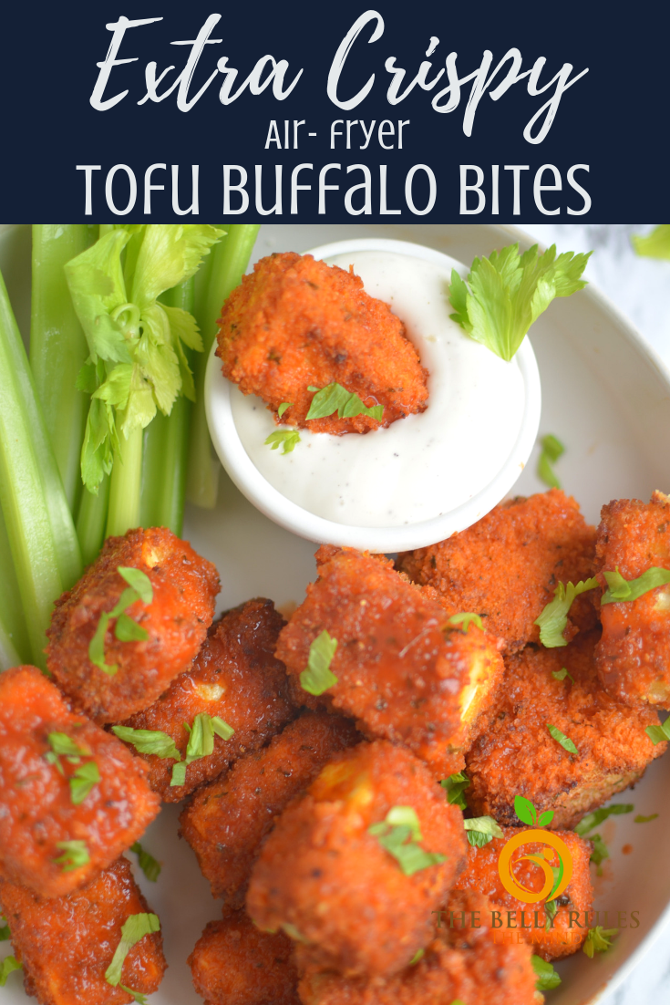 crispy tofu buffalo bites
