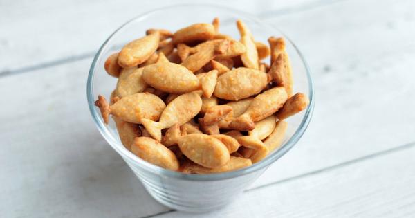 Home-made Goldfish cheese cracker