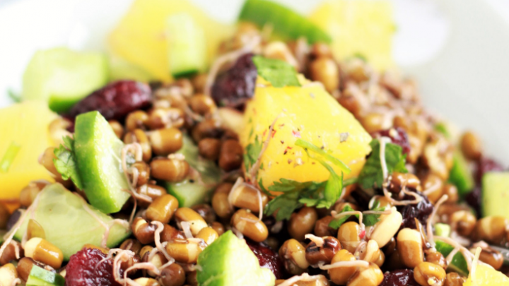 mung beans and pineapple salad