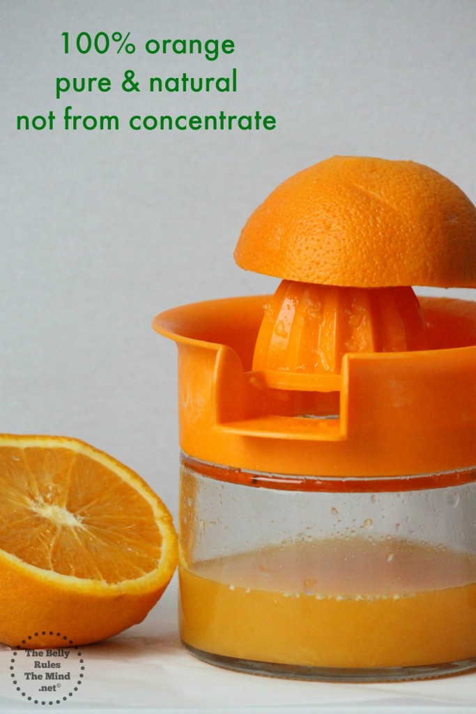 Orange juice pure and narutal