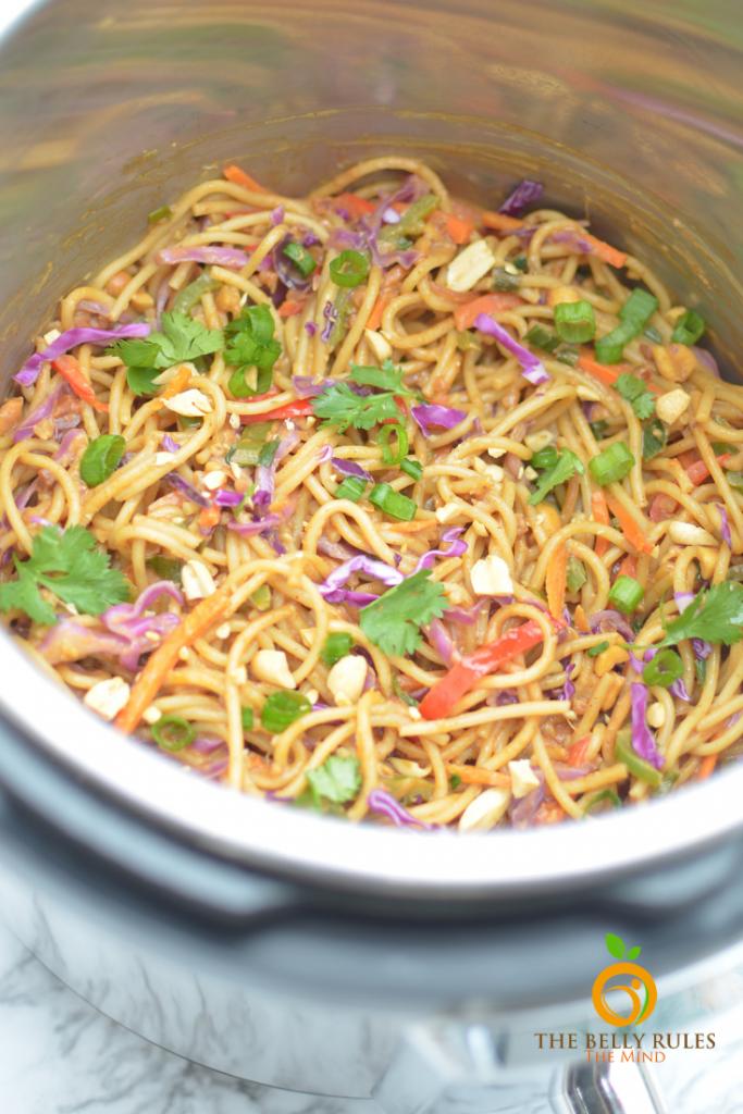 instant pot thai peaunt noodles