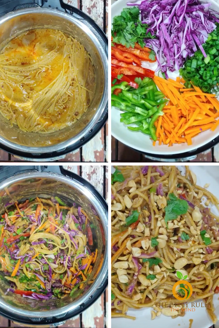 10 minute instant pot spicy Thai noodle bowl