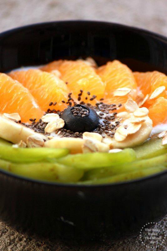 Tiranga Yogurt Bowl Closeup
