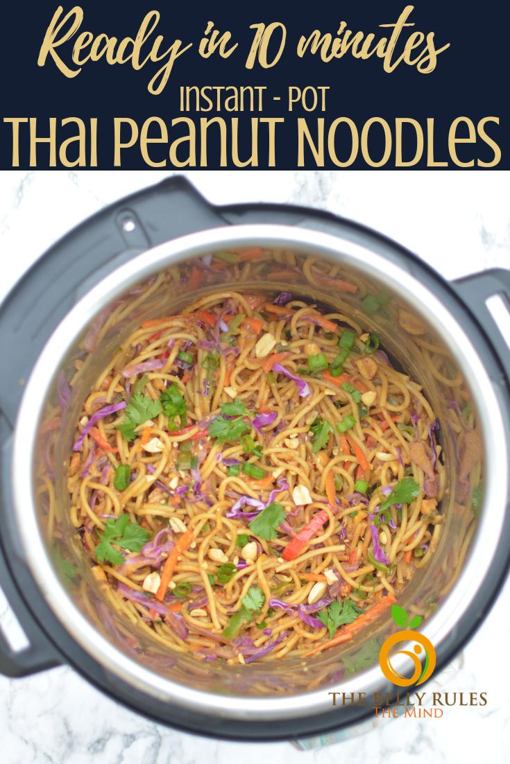 10 minute instant pot spicy Thai noodle bowl