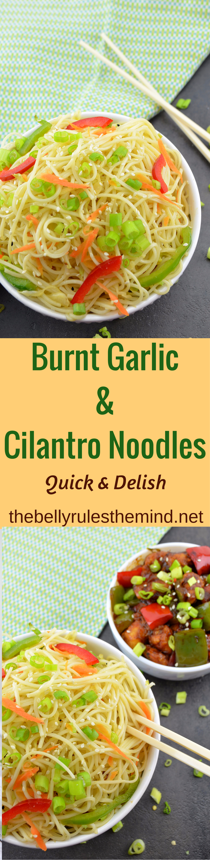 Burnt Garlic & Cilantro Noodles