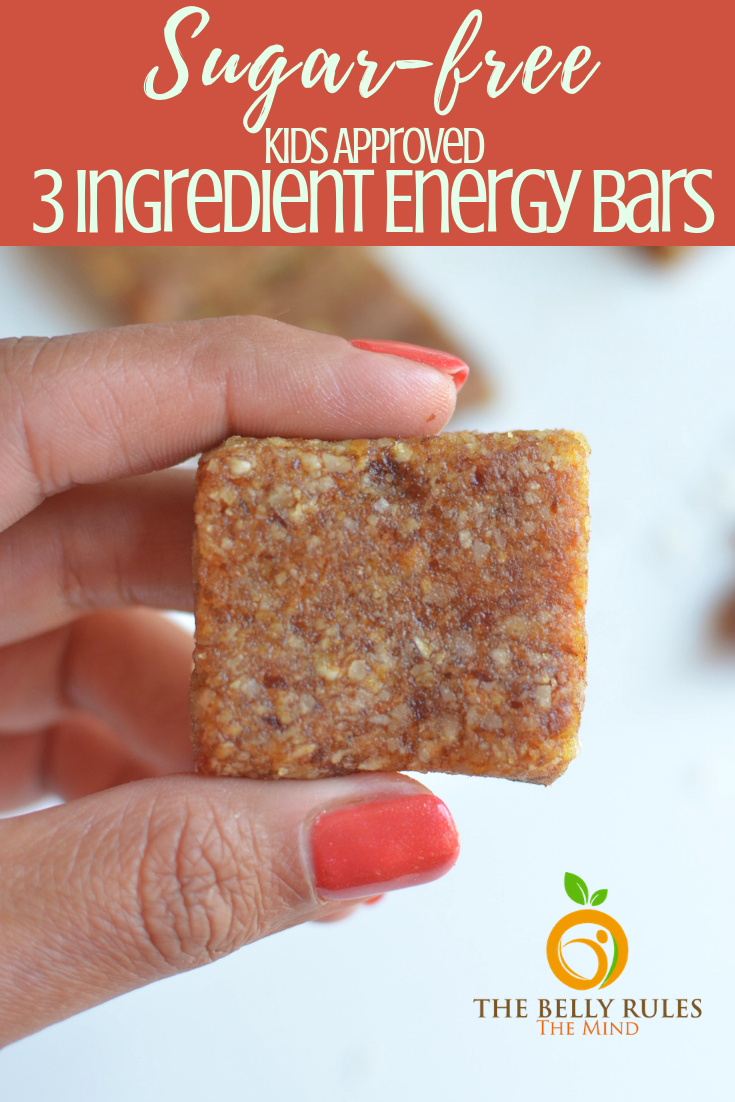 Sugar-Free Homemade Almond & Dates Energy Bars -When cravings attack, it can be tempting to reach for something greasy or sweet, but neither is friendly to your health or waistline. For a healthy alternative, grab these sugar-free energy bars to help satisfy hunger and boost energy between meals