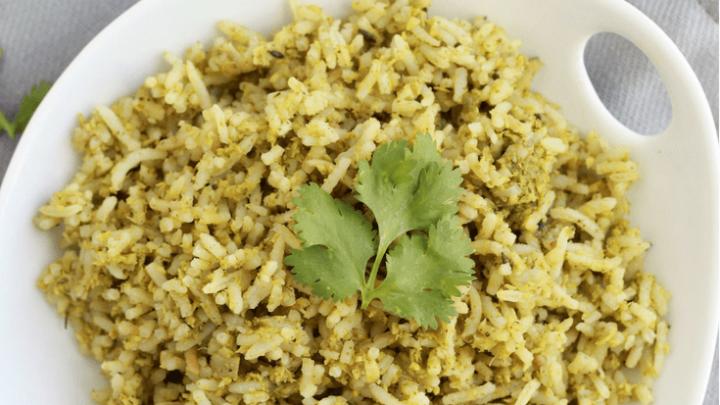 Vegan Coconut Cilantro Rice