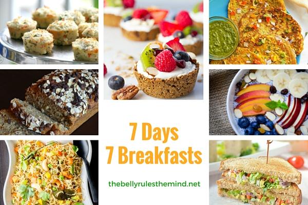 7 Days 7 Healthy Breakfasts