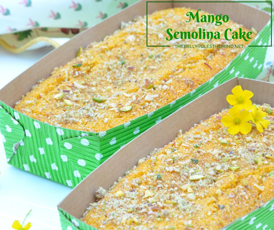Mango Semolina Cake (eggless)