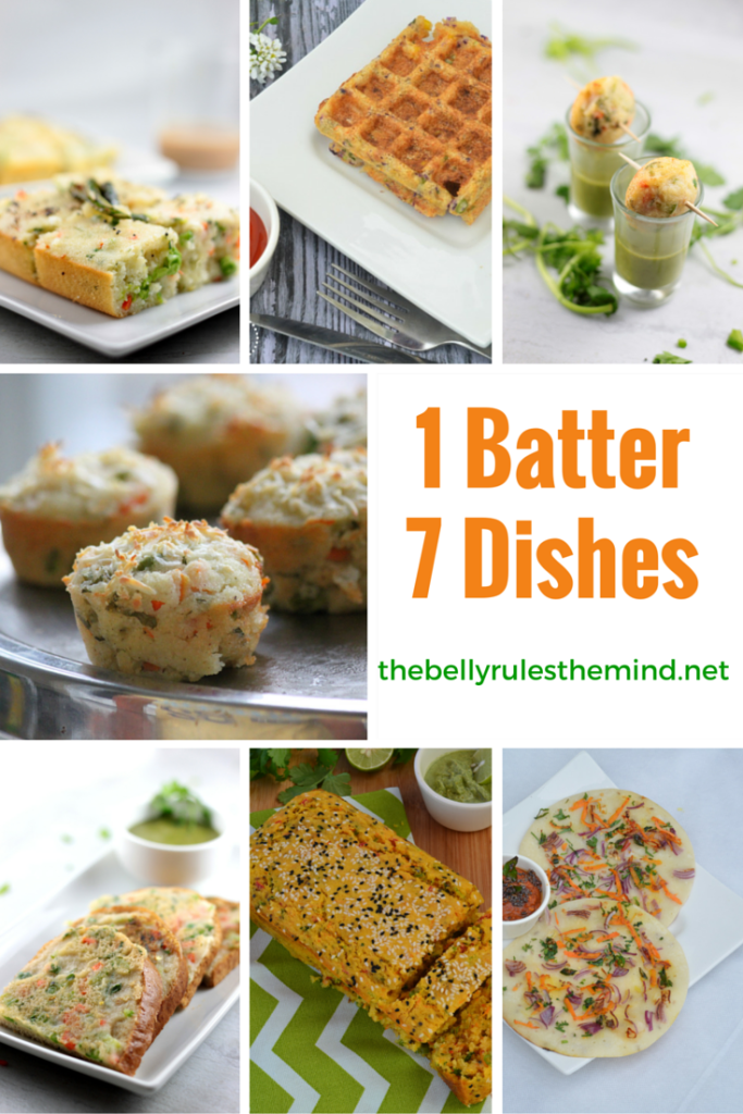 1 batter 7 dishes