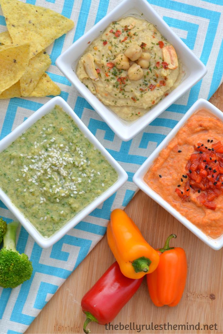 Hummus served 3 ways