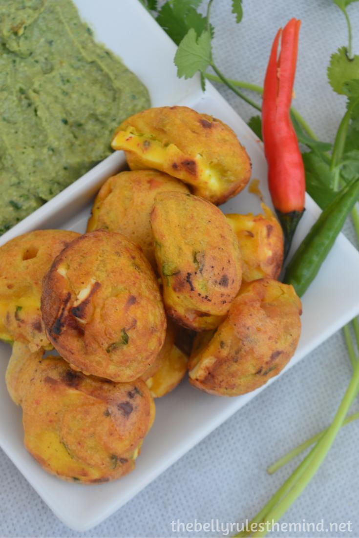 Stuffed Paneer pakoda- ( made in appe pan) (6)