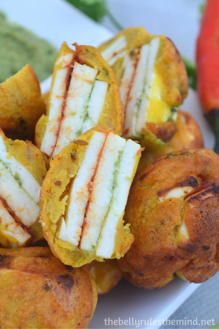 Stuffed Paneer pakoda- ( made in appe pan) (7)