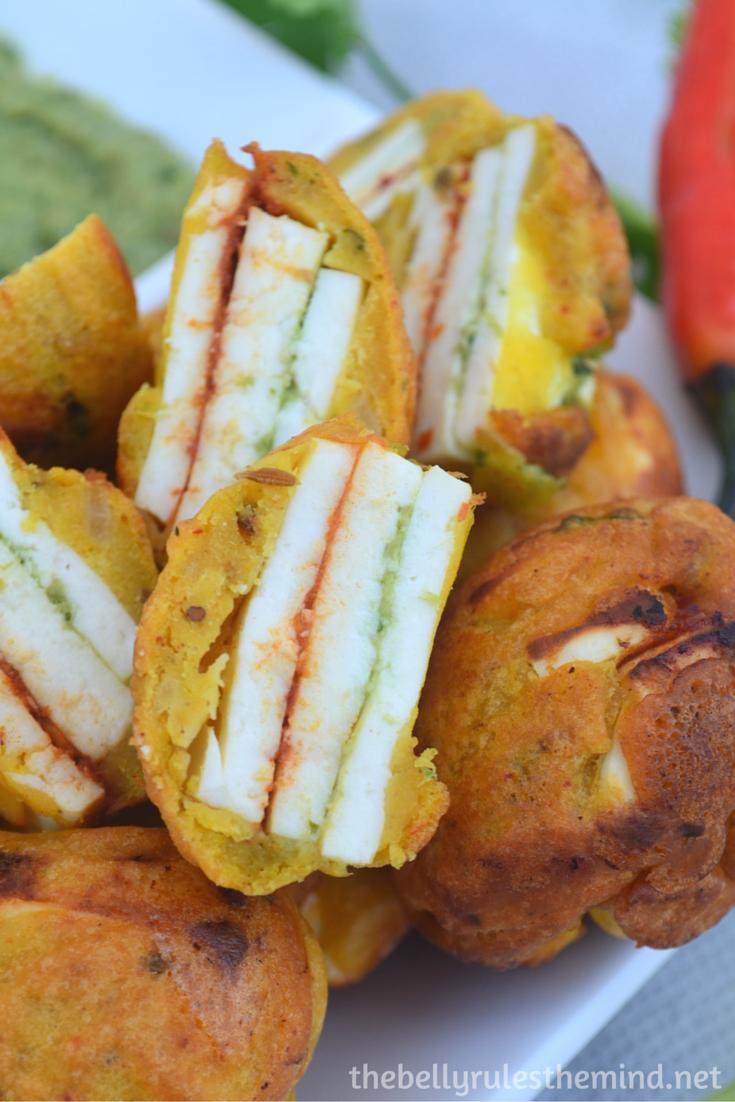 Stuffed Paneer pakoda- ( made in appe pan) (7)
