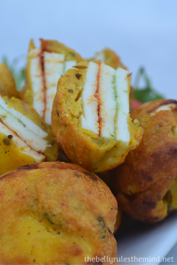 Stuffed Paneer pakoda- ( made in appe pan) (8)