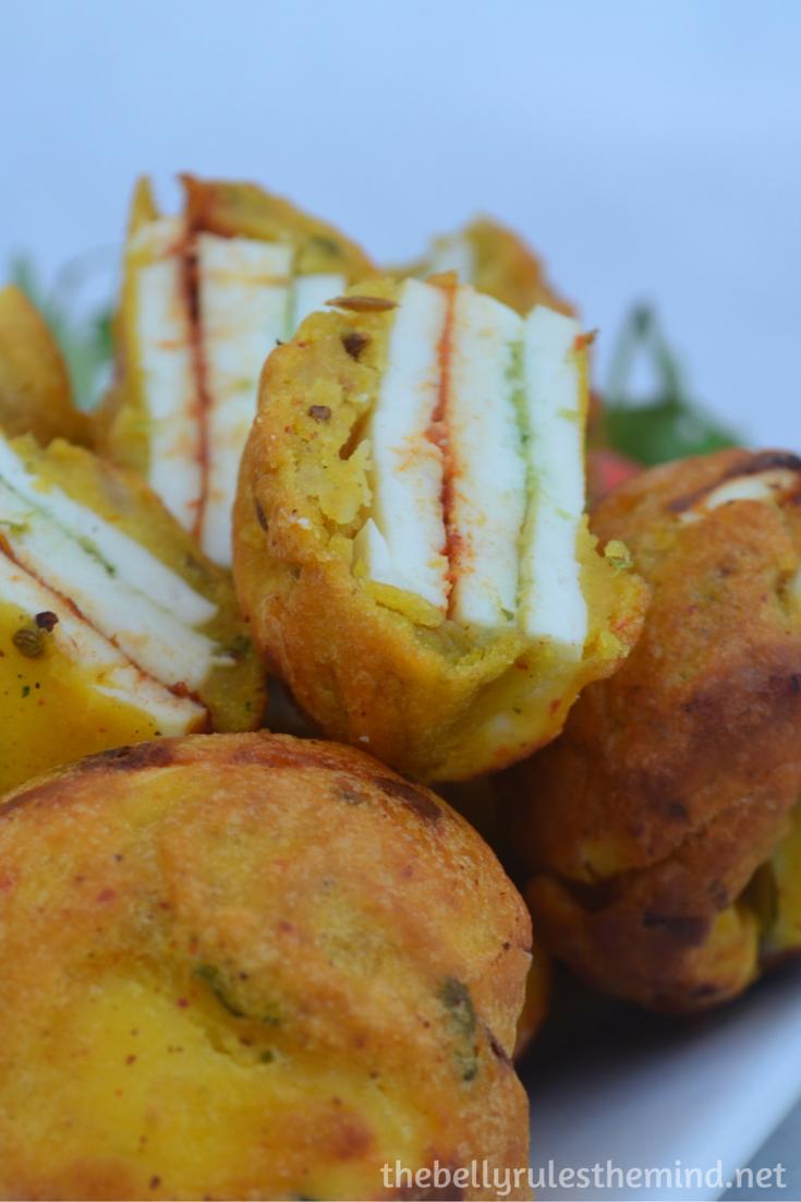 Stuffed Paneer pakoda- ( made in appe pan) (8)