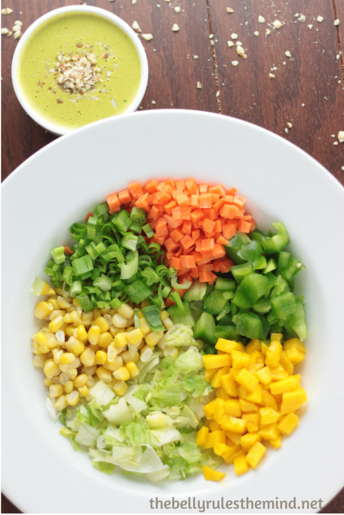Thai Salas with green coconut dressing