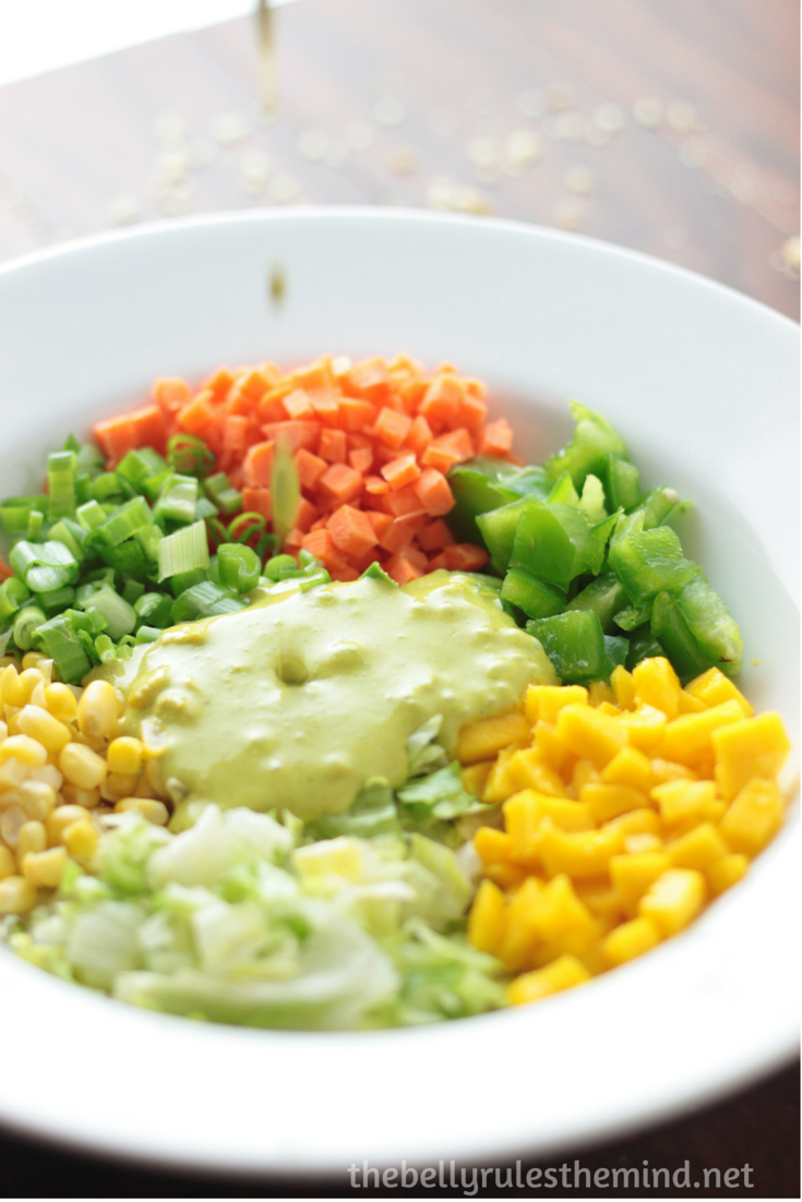 thai salad with green coconut dressing
