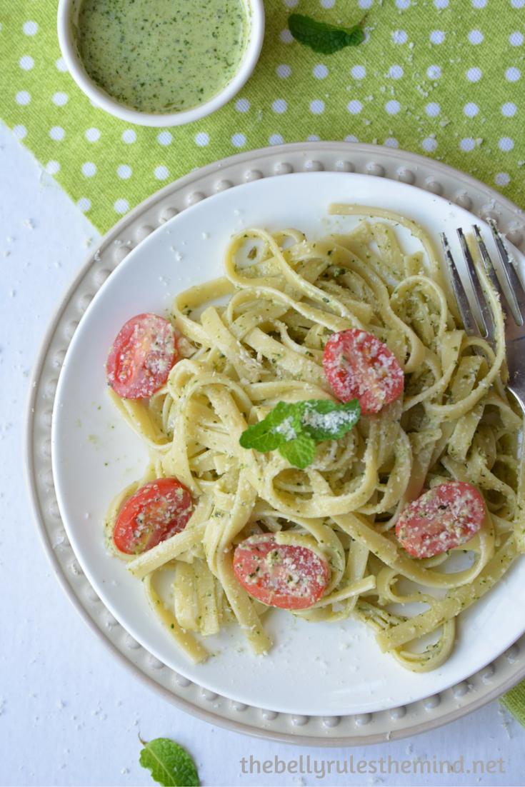 Creamy pesto pasta (7)