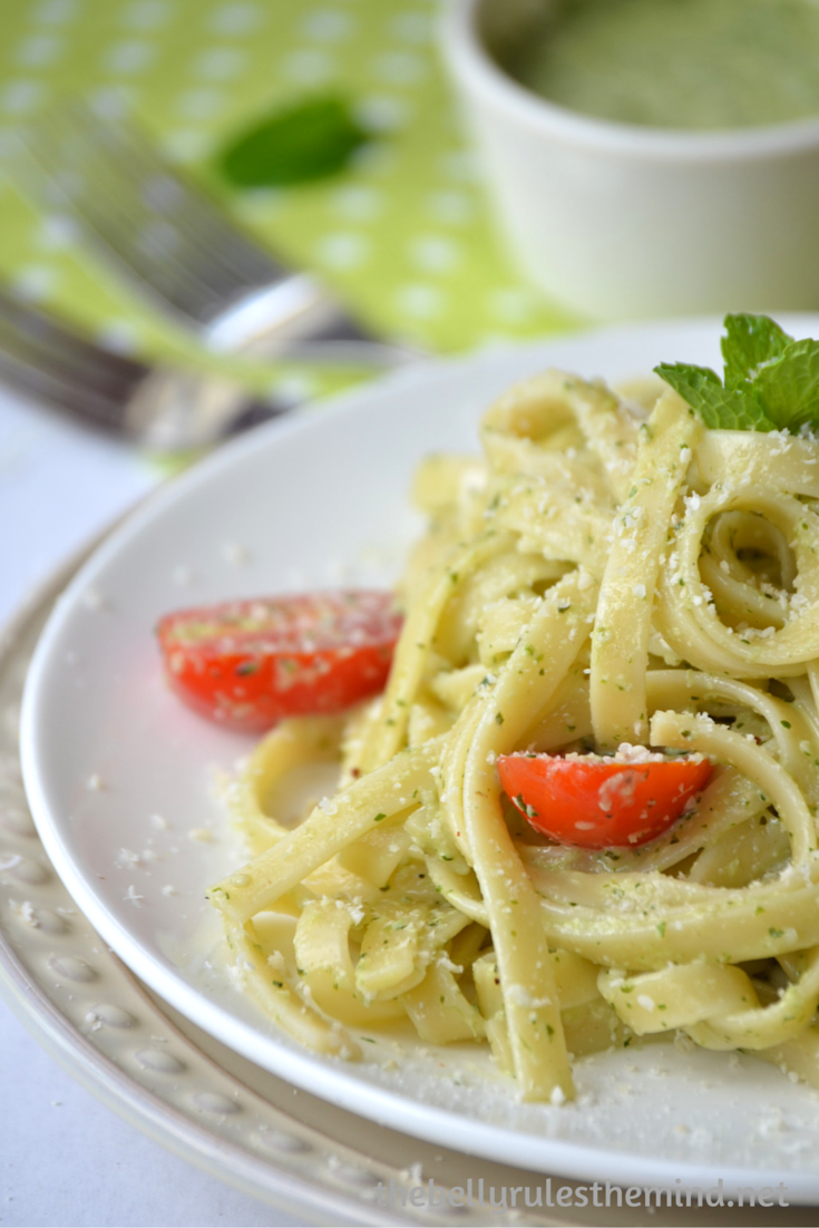 Creamy pesto pasta (8)
