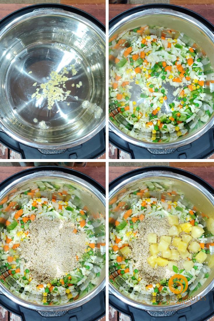 instant pot Pineapple quinoa fried rice