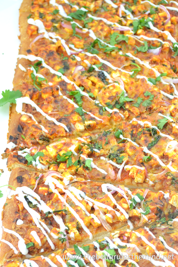 Quick and Easy Paneer Tikka Pizza