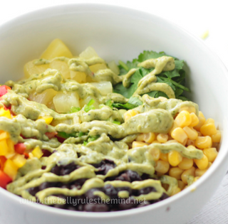Tex Mex Salad with Cilantro Yogurt Dressing