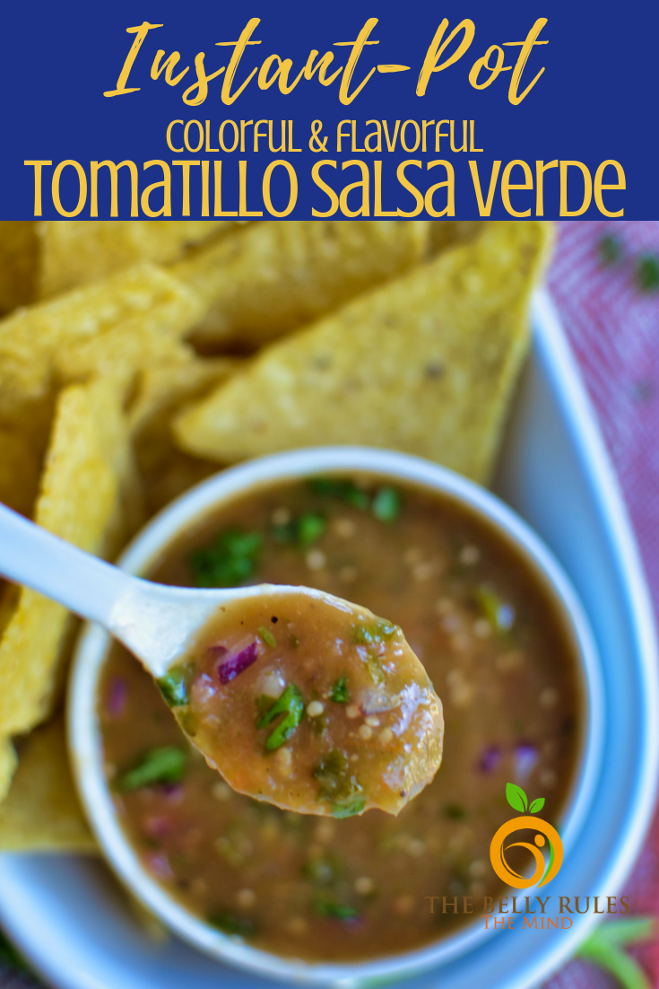This is a super simple Roasted Tomatillo Salsa Verde Recipe is easy, no fuss, no muss coz its made in Instant Pot! This tastes JUST like Chipotle Tomatillo Salsa, their version of Salsa Verde / medium salsa as they call it. This medium-heat copycat recipe is easy, flavorful, and so delicious pair this with some Chips or a condiment to your Burrito bowl. Sure to become everyone's favorite salsa.