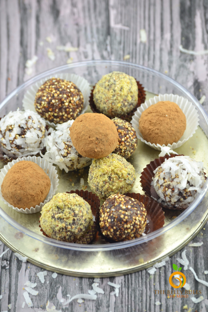 quinoa fudge balls snack breakfast energy balls