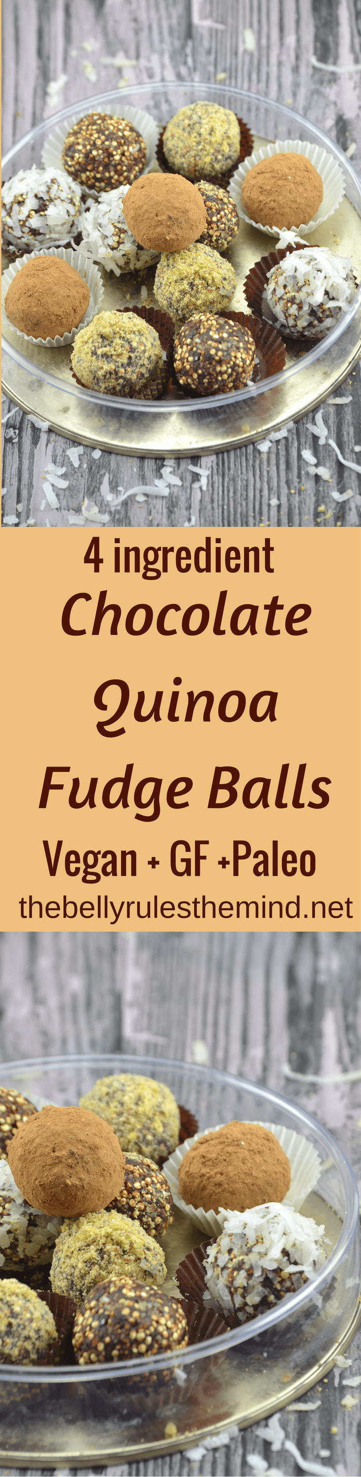 Chocolate Quinoa Fudge Balls