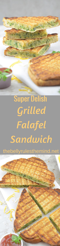 Grilled Falafel Sandwich