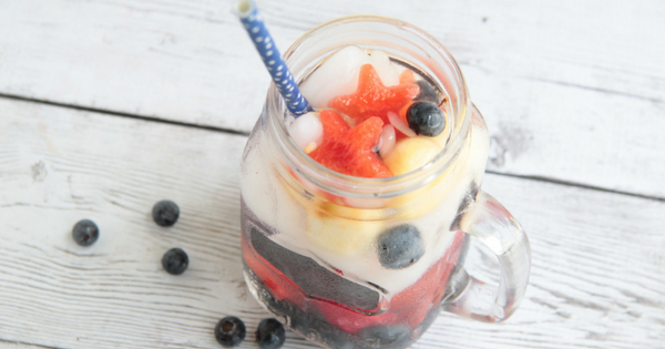 Patriotic American Flag drink
