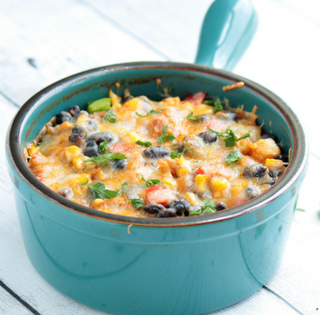 Healthy Vegetarian Mexican Casserole