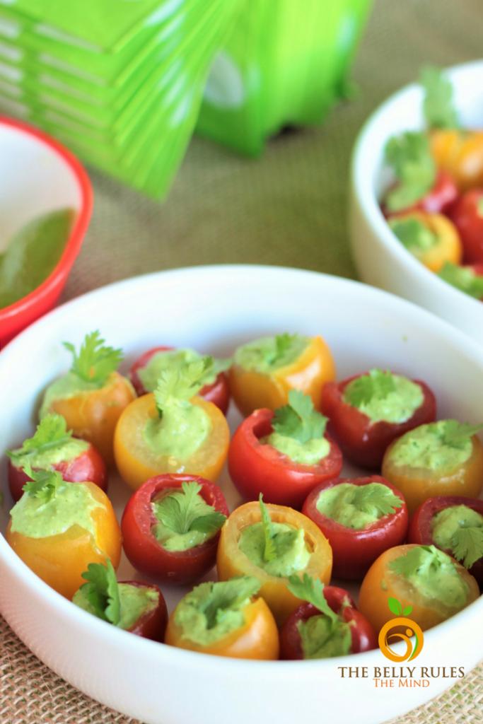 Avocado Recipes Hass Chipotle Avocado Stuffed Cherry Tomatoes