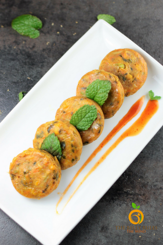 Steamed Vegetable Dhokla Cakes