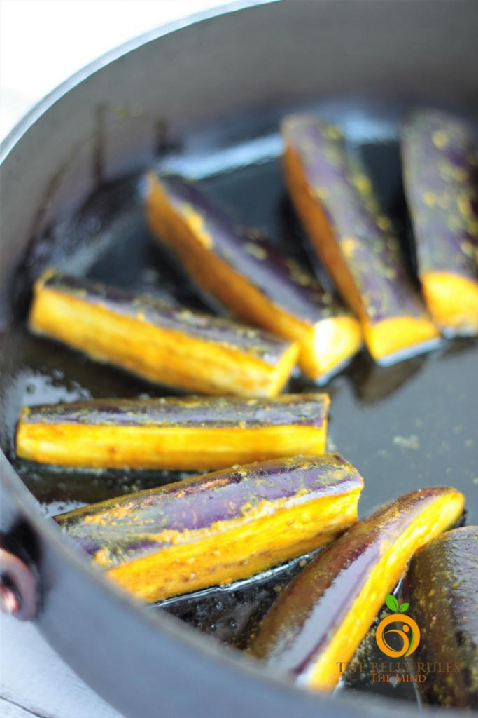 Begun Bhaja Eggplant Sticks