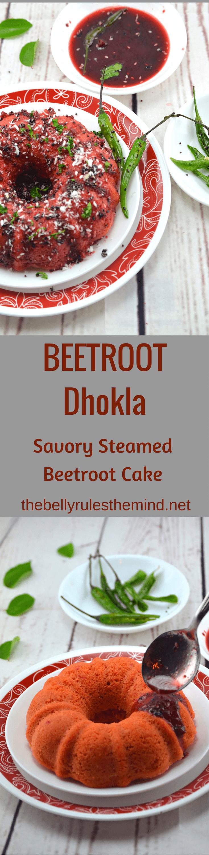 Beetroot Dhokla