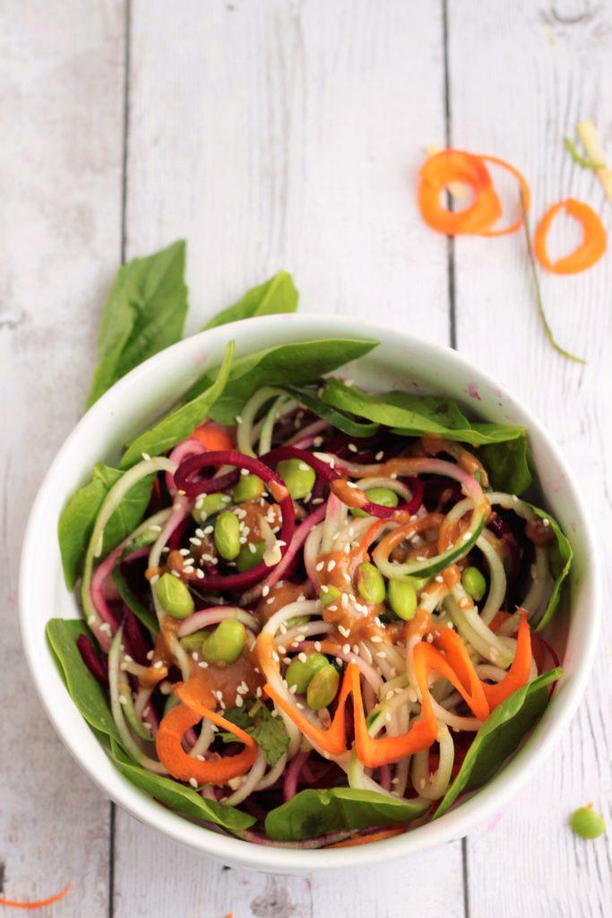 Thai Salad spiralized vegetable salad